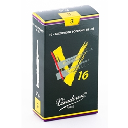 Vandoren SR713 Soprano Sax V16 Reeds Strength #3; Box of 10