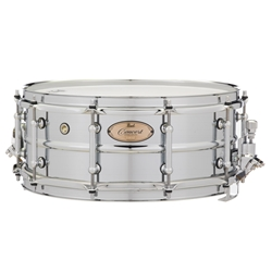 "Pearl  CRS1455 14""x5.5"" Concert Series Steel Snare Drums"