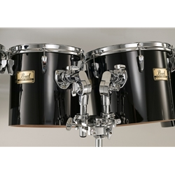 PEARL  Pearl PTE101246 10&12 Concert Poplar-Kapur Concert Tom set with stand, MIDNIGHT BLACK