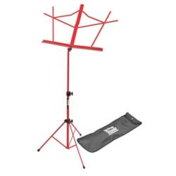 On-Stage SM7122RB  Compact Sheet Music Stand, Red, w/ Bag