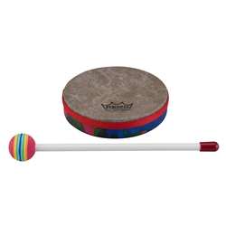 Remo  KD-0106-01  Kids Percussion® Frame Drum - Fabric Rain Forest, 6""