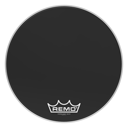 Remo  PM-1420-MP  Powermax® Ebony® Crimplock® Bass Drumhead, 20""