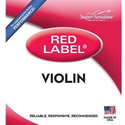 Super Sensitive 2104_SS RED LABEL VIOLIN SET 1/2